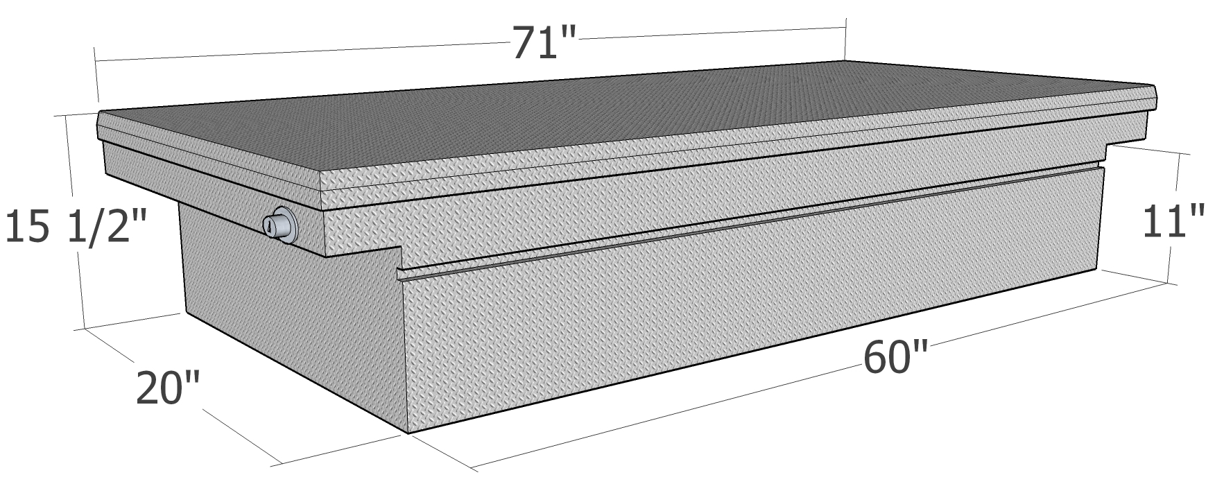 truck tool box size