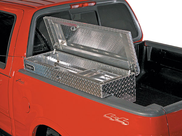 diamond cut chrome tool box for dodge ram image