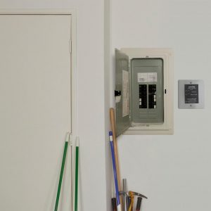 Leviton installed next to a panel