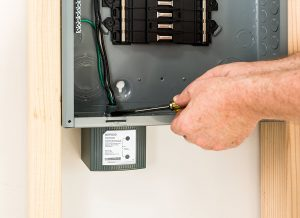 Schneider surge suppressor installed