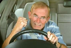 Angry driver unable to start car