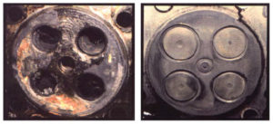 comparing clean cylinder heads vs dirty ones