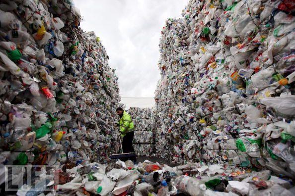 bottles landfill
