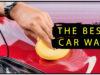 man waxing his vehicle